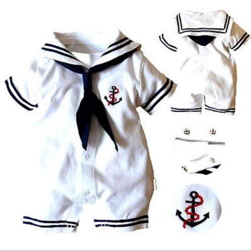 mameluco marinero traje para bebe