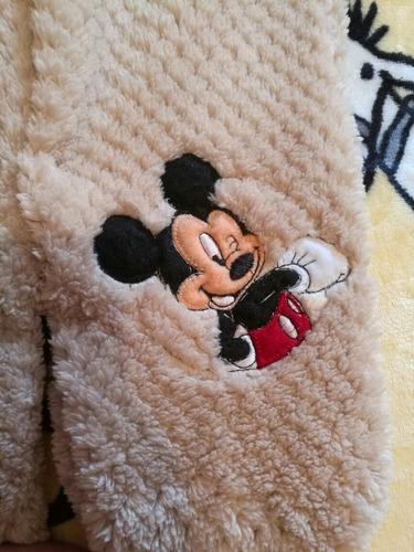 mameluco mickey mouse café con babero 3-6 meses garciamarie