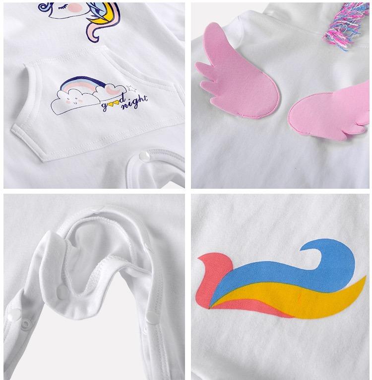 3a62daf54 Mameluco Pijama Bebé Unicornio Blanco Con Alas - $ 350.00 en Mercado ...
