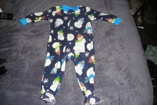 mameluco pijama termicos cartersmunecos nieve 2t ( 361