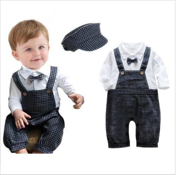 Mameluco Ropa Traje Para Bebe Cuadros Boina -   405.00 en Mercado Libre 5ad3bd3228b