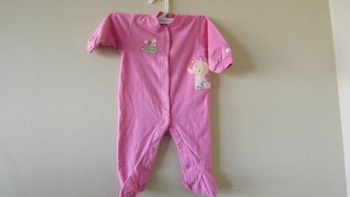 mameluco rosa estampado talla 3-6 meses