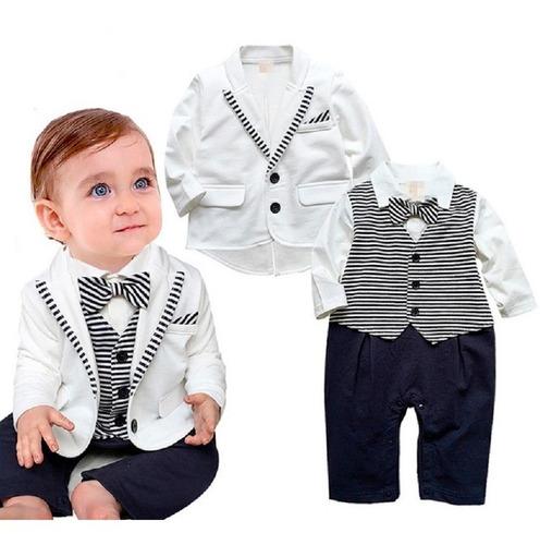 mameluco tipo traje niño - paje - bautizo - boda - chaqueta
