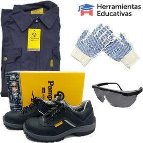 0d9679c08 Mameluco + Zapatos Seguridad + Guantes Y Lentes De Trabajo