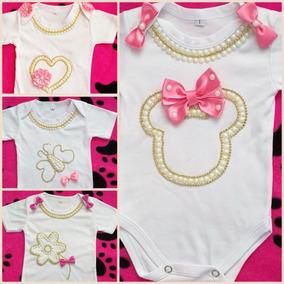00b0e2615 Mamelucos / Body Para Bebe Niña Con Apliques A Mano