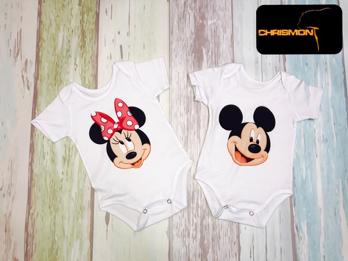 mamelucos micky mouse minnie mouse chrismont