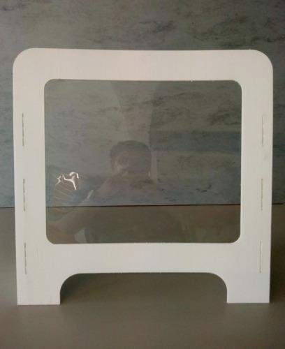 mampara anti-contagio para mostrador 60x60cm