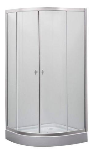 mampara baño cabina box ducha 80x80 curvo vidrio 5mm transp.