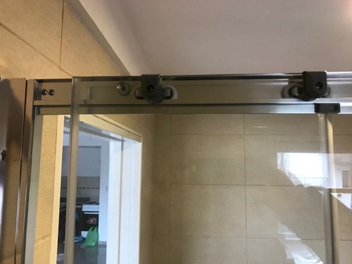 mampara baño corrediza piso 150x190 esmerilado 4 hojas 6mm