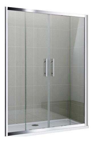 mampara baño corrediza piso 150x190 vidrio 4 hojas cuotas!
