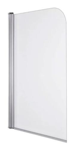 mampara baño ducha vidrio 5mm templado rebatible 75x130 cm