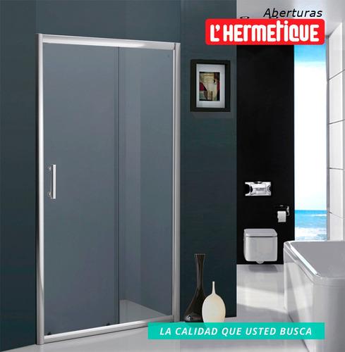 mampara baño l'hermetique + 1100mm x 1900mm + transparente