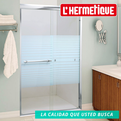 mampara baño l'hermetique + 1200 x 1900 + decorada
