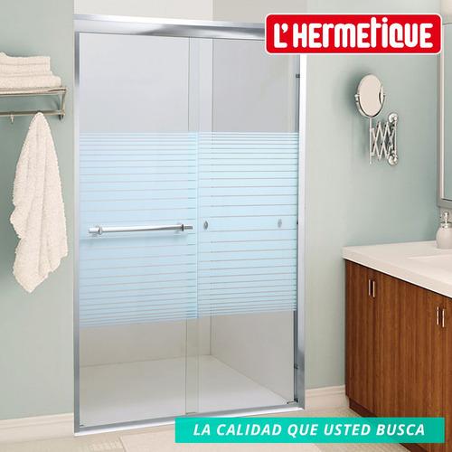 mampara baño l'hermetique + 1300x1900 + decorada 2 hojas