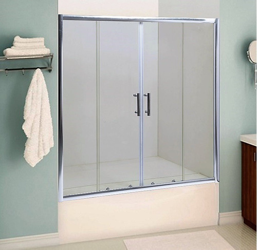 mampara baño l'hermetique + 1600x1500 + bañera 4 hojas
