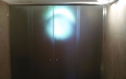 mampara corrediza anodizado 1.60 x1.50 vidrio templa fume6mm