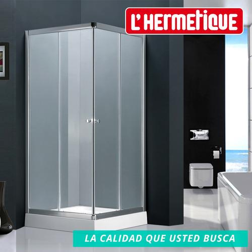 mampara esquina l'hermetique + 800x800x1980 + transparente