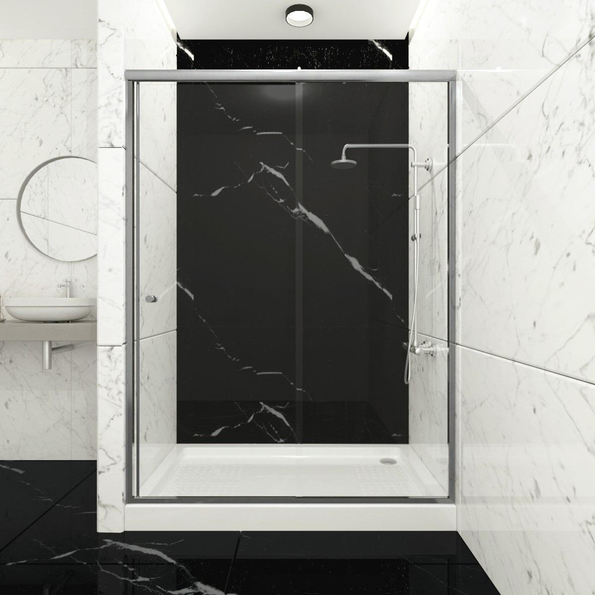 Mampara de Ducha Puerta Corredera vidrio templado transparente 120x190cm