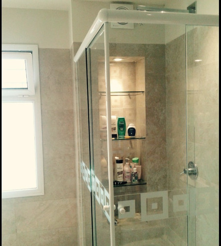 Mampara de ducha para ba o de vidrio templado m2 en mercado libre - Cristal templado precio m2 ...