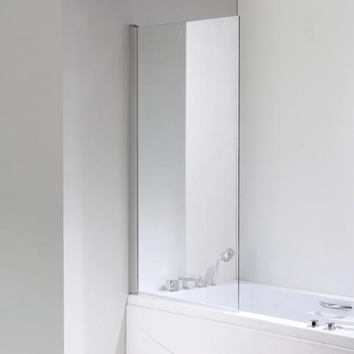 mampara vidrio templado 80x140 cm + columna ducha escocesa