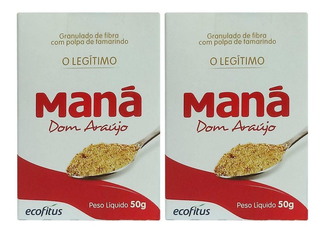 Maná Dom Araújo Legítimo Pó 50g Ecofitus Kit 2 Unidades