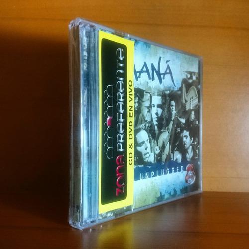 maná mtv unplugged cd + dvd original nuevo y sellado