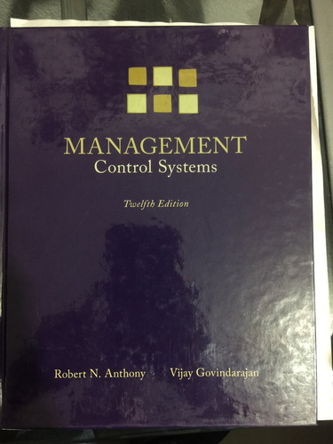management control systems twelfth edition 9780071254106