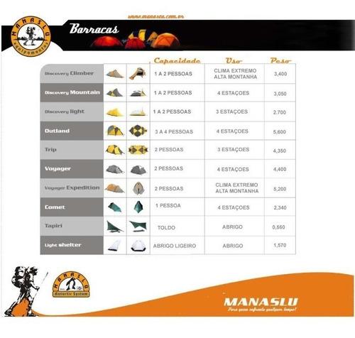 manaslu - comet -  1p  12x + frete produção nacional