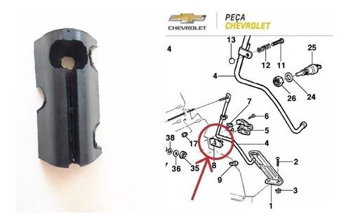 mancal opala pedal acelerador bucha calço friso grade capa