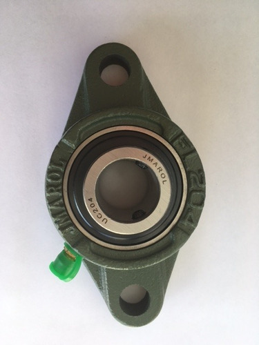 mancal oval flange + rolamento ucfl204 ucfl 204 eixo 20mm.