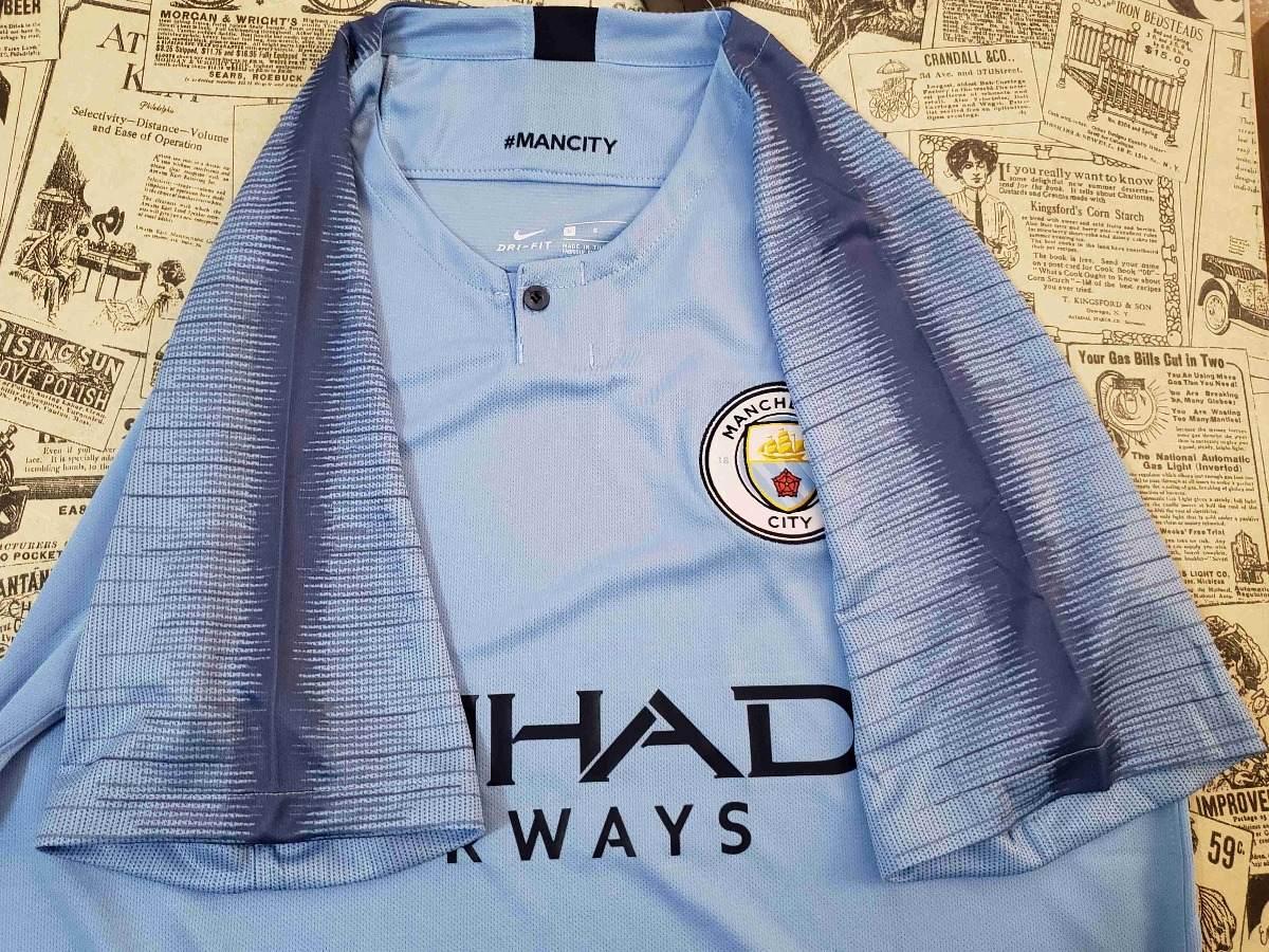 bc50c79af4af9 Camisa Manchester City Home Oficial 2018-2019 - R  144