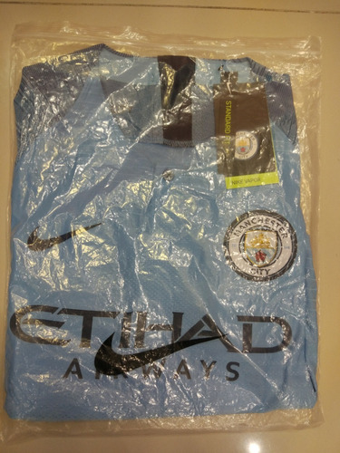 manchester city camiseta player original kun agüero talla s