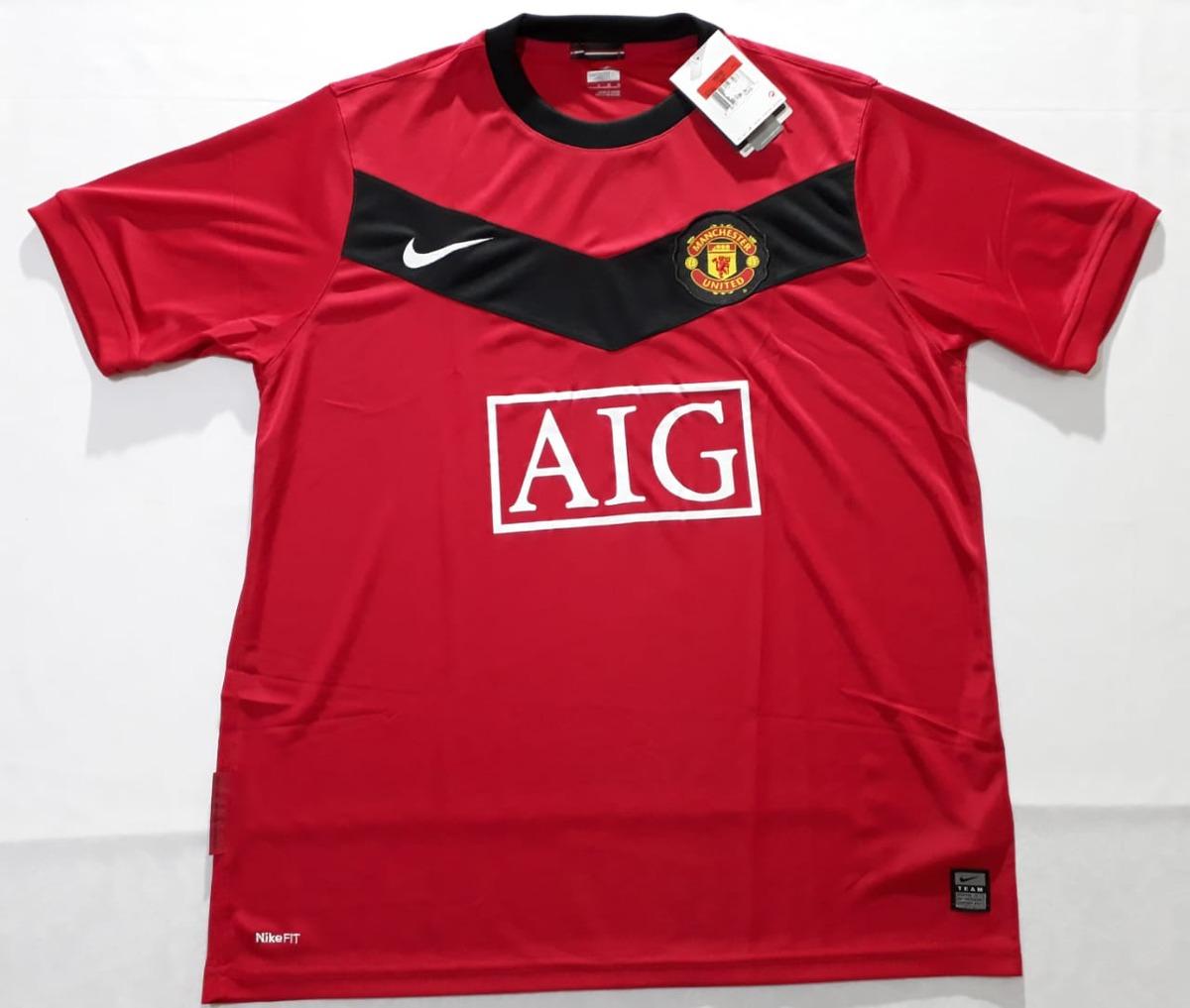 9fc95580d3 Carregando zoom... camisa manchester united home nike temporada 09 10