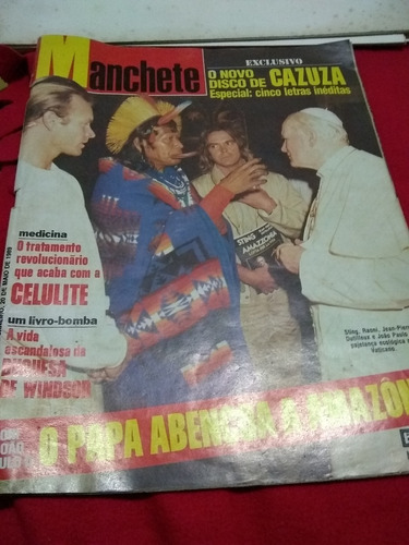 manchete 1935 o papa abençoa a amazônia cazuza celulite etc