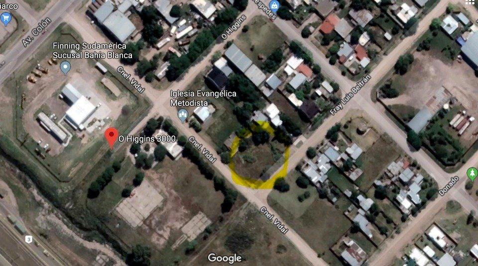 mancisidor propiedades vende: en bloque - tres terrenos zona logistica / industrial. a metros de colon y camino de acceso a puertos - 650 mts - esquina