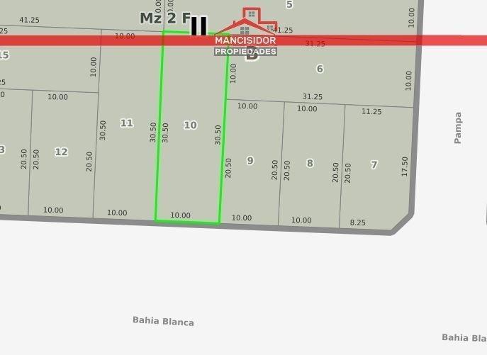 mancisidor propiedades vende - lote en m. hermoso - centro