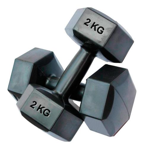 mancuerna 2kg revestida pvc pesa fitness rey entretenimiento