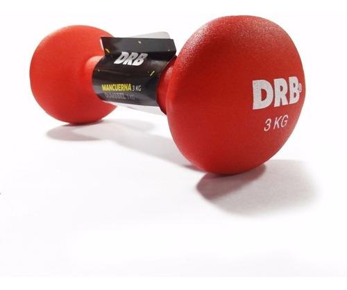 mancuerna 3kg drb entrenamiento gym funcional gimnasio
