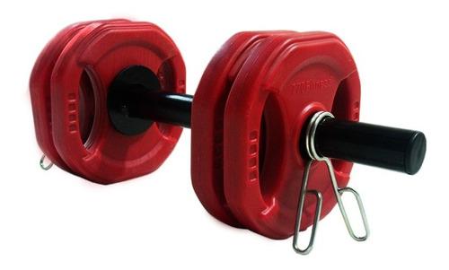 mancuerna 4 kg discos pvc body pump 770fitness manijas topes