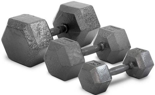 mancuerna de 8 kg fundicion metal maciza pesa gym cap fed