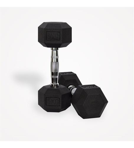 mancuerna hexagonal engomada 1kg hasta 50kg. precio x kilo