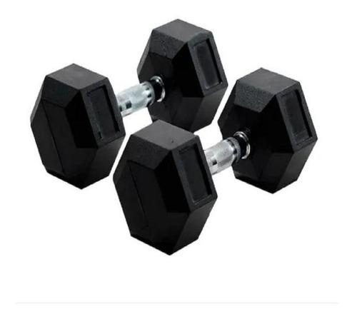 mancuerna hexagonal engomada ranbak 055 15kgxud envio+cuotas