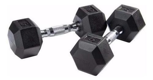 mancuerna hexagonal goma - engomada par de 2 kg pesas