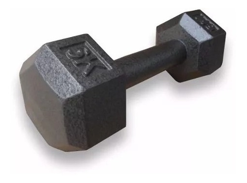 mancuerna hierro fundicion pesas 8 kgs hexagonal manubrio