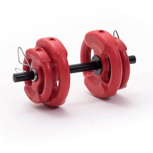 mancuerna kit 7 kgs en discos body pump + mancuerna