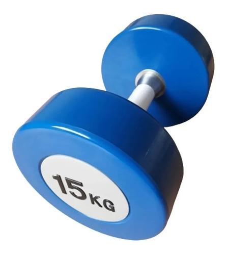mancuerna pu 15kg merco crossfit gimnasio funcional fitness