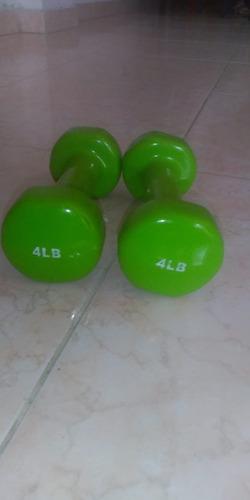 mancuernas 4lb sportiva color verde manzana