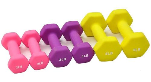 mancuernas + base set 3 pares pesas ejercicio 9.1 kg