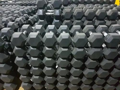 mancuernas hexagonales goma caucho x kilo  importadores