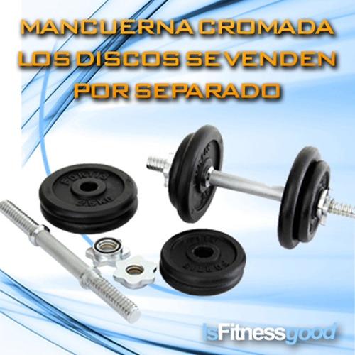 mancuernas kit  barra pesas díscos en acero importadas